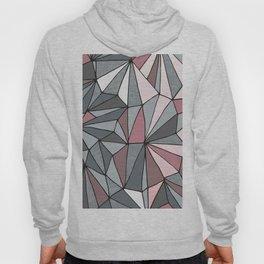 Urban Geometric Pattern on Concrete - Dark grey and pink Hoody