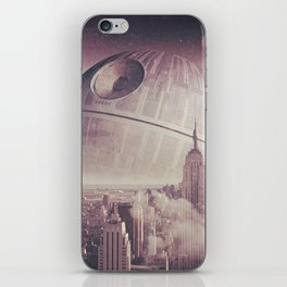 Death Star Over New York iPhone Skin