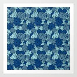 I löv löv - in blue Art Print