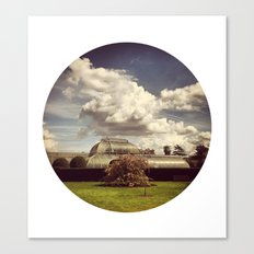 Telescope 2 glasshouse at kew Canvas Print