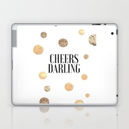 CHEERS DARLING GIFT, Wedding Quote,Anniversary Print,Gold Confetti,Cheers Sign,Champagne Quote,Celeb Laptop & iPad Skin