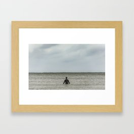 Sitting, Watching, Wishing. Framed Art Print