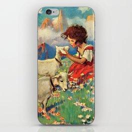 Jessie Willcox Smith - Heidi, Girl Of The Alps - Digital Remastered Edition iPhone Skin