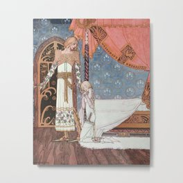 kay nielsen Tell me the way then she said and I'll search you out Metal Print