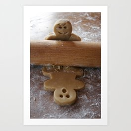 Attack of the Gingerbread man Art Print