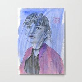 The Pink Jacket Metal Print