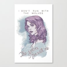 The wolves run with me. Canvas Print