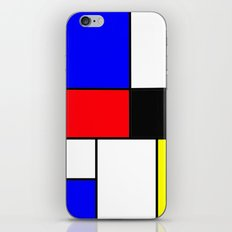 Red Blue Yellow squares design iPhone & iPod Skin