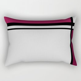 Cross Lines Deep Pink Rectangular Pillow