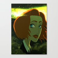 scully Canvas Prints featuring Scully  by Annalisa Leoni