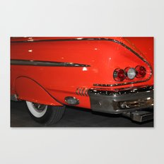 1958 Orange Chevrolet Impala  Canvas Print