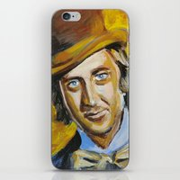 willy wonka iPhone & iPod Skins featuring Willy Wonka by Buffalo Bonker