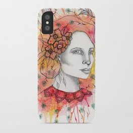 Floral Lady 2 iPhone Case