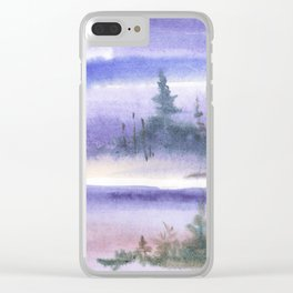 Wintery Taiga Clear iPhone Case