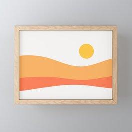 Geometric Landscape 22 Day Framed Mini Art Print