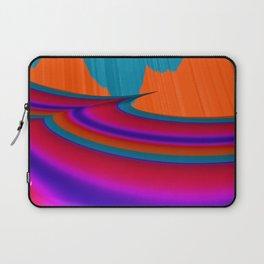 Two Mountain Peaks Abstract Art Laptop Sleeve
