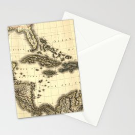 Vintage Map of The Caribbean (1806) Stationery Cards