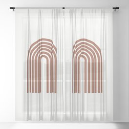 ARCOBALENO - OVER THE RAINBOW - Modern abstract art Sheer Curtain