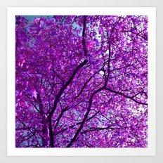 purple tree XXXI Art Print