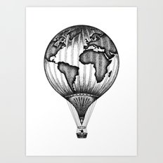 EXPLORE. THE WORLD IS YOURS. (No text) Art Print