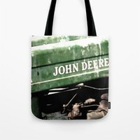 john green Tote Bags featuring John Deere by Captive Images Photography