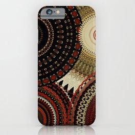 Gold Dust Red Mandalas iPhone Case