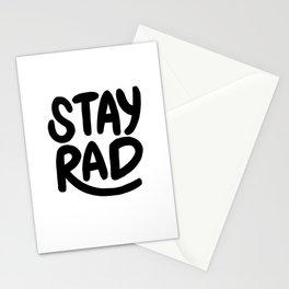 Stay Rad B&W Stationery Cards