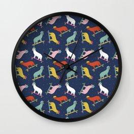 80s Skateboard Cat Wall Clock