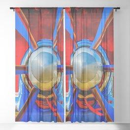 Blue propeller Sheer Curtain