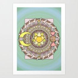 Cuteness Mandala Art Print