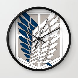 Wings of Liberty Atack on titan Wall Clock
