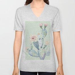 Prettiest Mint Cactus Rose Unisex V-Neck