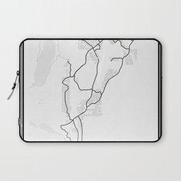 Lake Tahoe Light City Map Laptop Sleeve