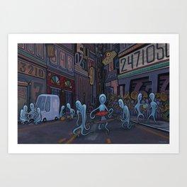 Number City Art Print