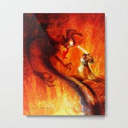 Samurai Jack VS Aku Metal Print