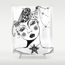You Have No Clue What Is In My Head GRRL Shower Curtain