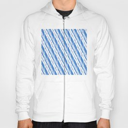 Candy Cane Blue Stripes Holiday Pattern Hoody