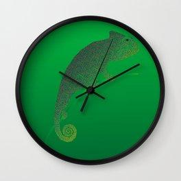Colorful language of chameleons Wall Clock