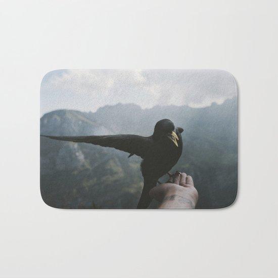 A wild Bird - landscape photography Bath Mat