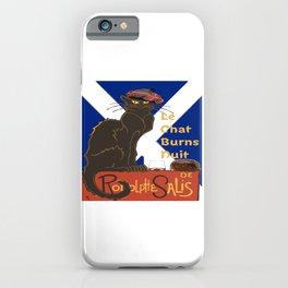 Le Chat Burns Nuit Haggis Dram Scottish Saltire iPhone Case