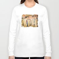 leonardo dicaprio Long Sleeve T-shirts featuring Leonardo DiCaprio in Shutter Island - Colored Sketch Style by ElvisTR