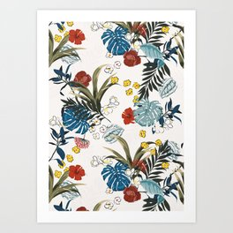 Tropical pattern Art Print