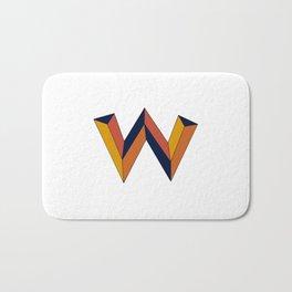 The W Letter Bath Mat