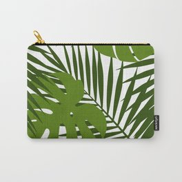 Palm leaf and monstera silhouettes seamless pattern Carry-All Pouch