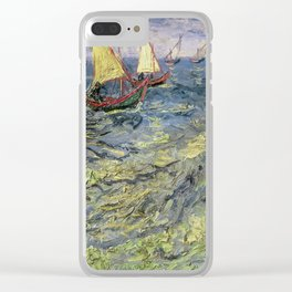 Fishing Boats at Saintes-Maries by Vincent van Gogh Clear iPhone Case