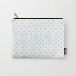 Aqua Watercolor Polka Dots Carry-All Pouch
