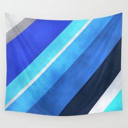 Parallel Blues Wall Tapestry
