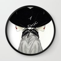 chic Wall Clocks featuring Chic by Tania Santos