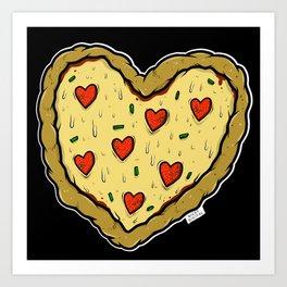 Valentines Day Pizza Pizza Art Print
