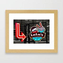 Color splashed Lulu's Framed Art Print